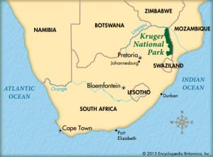 map kruger