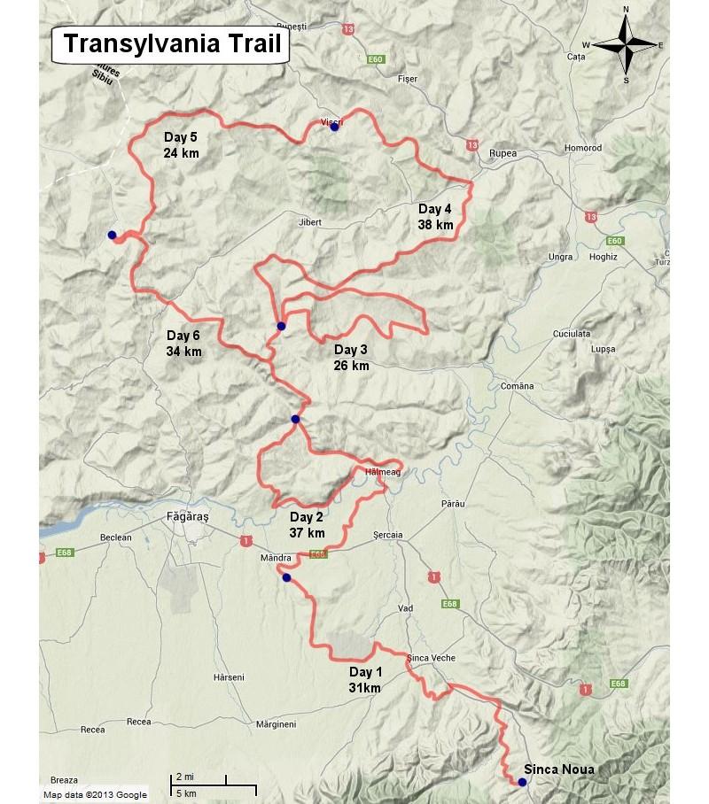 route transsylvanië