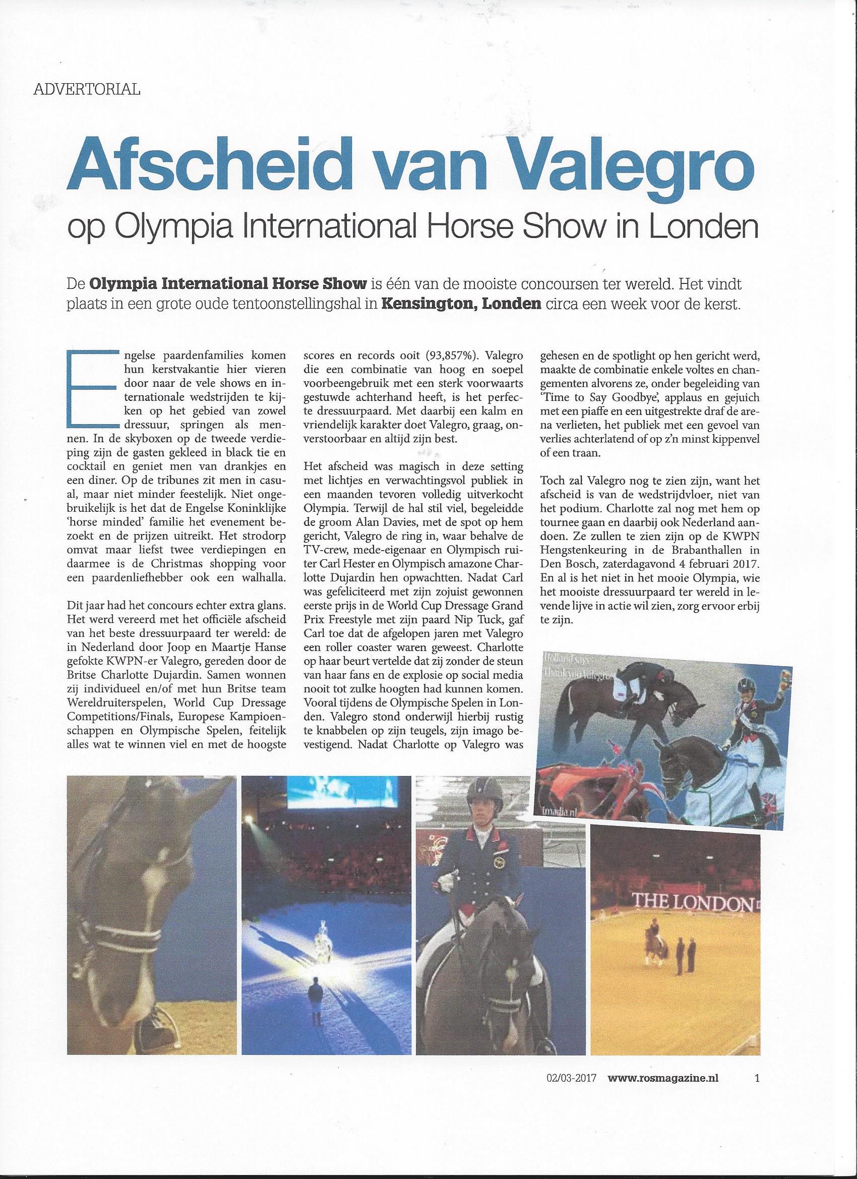 ROS Magazine - Valegro Olympia 2016